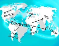 A diversidade do mundo indica a miscelânea e a terra Fotos de Stock Royalty Free