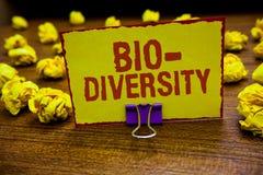Diversidade do texto da escrita da palavra bio Conceito do negócio para a variedade de organismos Marine Fauna Ecosystem Habitat  fotos de stock royalty free