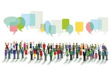 Diversidade em uma comunicação Imagens de Stock Royalty Free