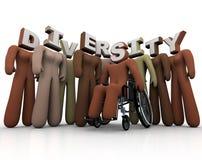 Diversidade - pessoa de cores diferentes Foto de Stock Royalty Free