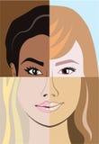 Diversidade racial do vetor da raça ilustração do vetor