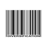 Diversificatiestreepjescode Royalty-vrije Stock Foto
