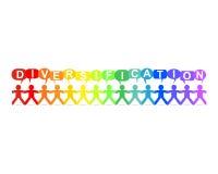 Diversification Paper People Speech Rainbow Royalty Free Stock Photo