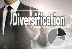 Diversification is shown by businessman concept.  royalty free stock photography