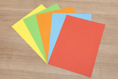 Diversified colorful paper Stock Photography