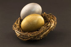 Diversified Nest Eggs Royalty Free Stock Image