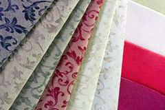 Diversified options for textiles Royalty Free Stock Images