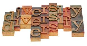 Diversifiez l'abrégé sur mot Image stock