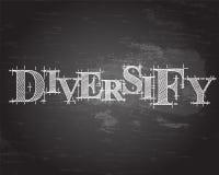 Diversifiez le tableau noir de Word Photos stock