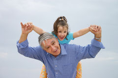 Diversión de la diversión de la familia Imagen de archivo libre de regalías