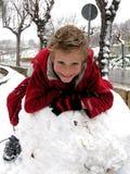 Diversión de la nieve Imagen de archivo libre de regalías