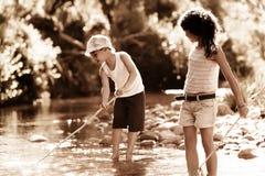 Diversión de la pesca Imagen de archivo libre de regalías