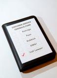 Diversión una de la forma del feedback del servicio de atención al cliente Foto de archivo libre de regalías