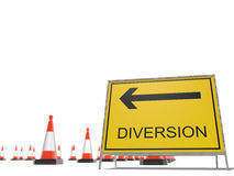 Diversion Royalty Free Stock Photos
