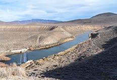 Diversion dam near Nixon, Nevada. Irrigation dam on the Truckee River near Nixon, Nevada Stock Photos