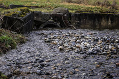 Diversion Ditch Culvert and Streamn Royalty Free Stock Photos