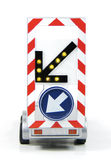 Diversion road sign. With flashing arrow Royalty Free Stock Photography