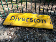 Diversion Road Sign Royalty Free Stock Photo