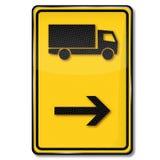 Diversione per i camion illustrazione di stock