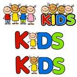 Diversità 2 di amicizia dei bambini Fotografia Stock