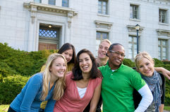 diversità della città universitaria Fotografia Stock Libera da Diritti