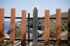 Diversità di legno del recinto fotografia stock libera da diritti