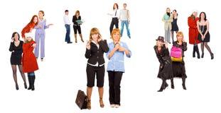Diversità di molta gente nel commercio Immagine Stock