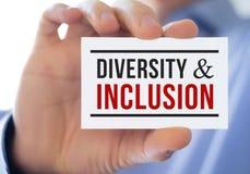 Diversità ed inclusione Fotografie Stock Libere da Diritti