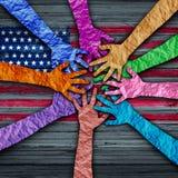 Diversité américaine illustration stock