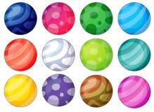 Diversité de boule Photographie stock libre de droits