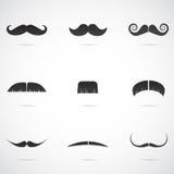 Diversité de moustaches Images stock