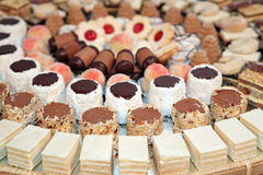 Diversité de pâtisserie Image stock