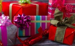 Diversité des boîte-cadeau Images stock