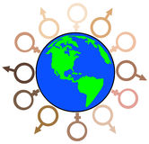 Diversité globale Photos stock
