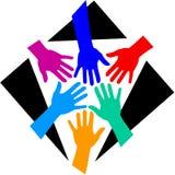 Diversité de travail d'équipe/ENV Photo libre de droits