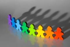 Diversiteit en Groepswerk stock foto