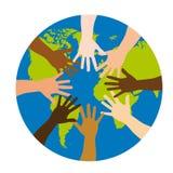 Diversiteit over wereld stock illustratie