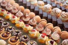 Diversiteit van gebakje Stock Foto's