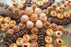 Diversiteit van gebakje royalty-vrije stock foto's