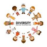 Diversiteit van rassen Royalty-vrije Stock Fotografie