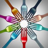 Diversiteit in Voedsel vector illustratie