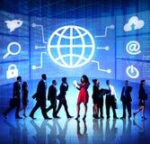 Diversiteits Bedrijfsmensen Globaal Communicatie Financieel Concept Royalty-vrije Stock Foto's