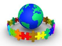 Diversiteitsconcept met aarde Royalty-vrije Stock Afbeelding