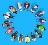 Diversiteitsgroep Bedrijfsmensen Communautair Team Concept stock afbeelding