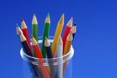 Diversity. Bunch of color pencils in a pencil holder Stock Image