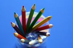 Diversity. Bunch of pencil colors, showing variety Stock Photography