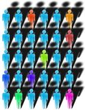 Diversity. A group of multicolored figures Vector Illustration