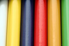 Diversity. Close up of color pencils Stock Image