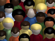 Diversity. Aerial view of a diverse, multiracial crowd of people Royalty Free Stock Photos
