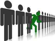 Diversity. Concept of separation from group conformist Royalty Free Stock Images